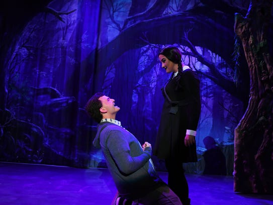 """The Addams Family"", a musical comedy on stage at the"