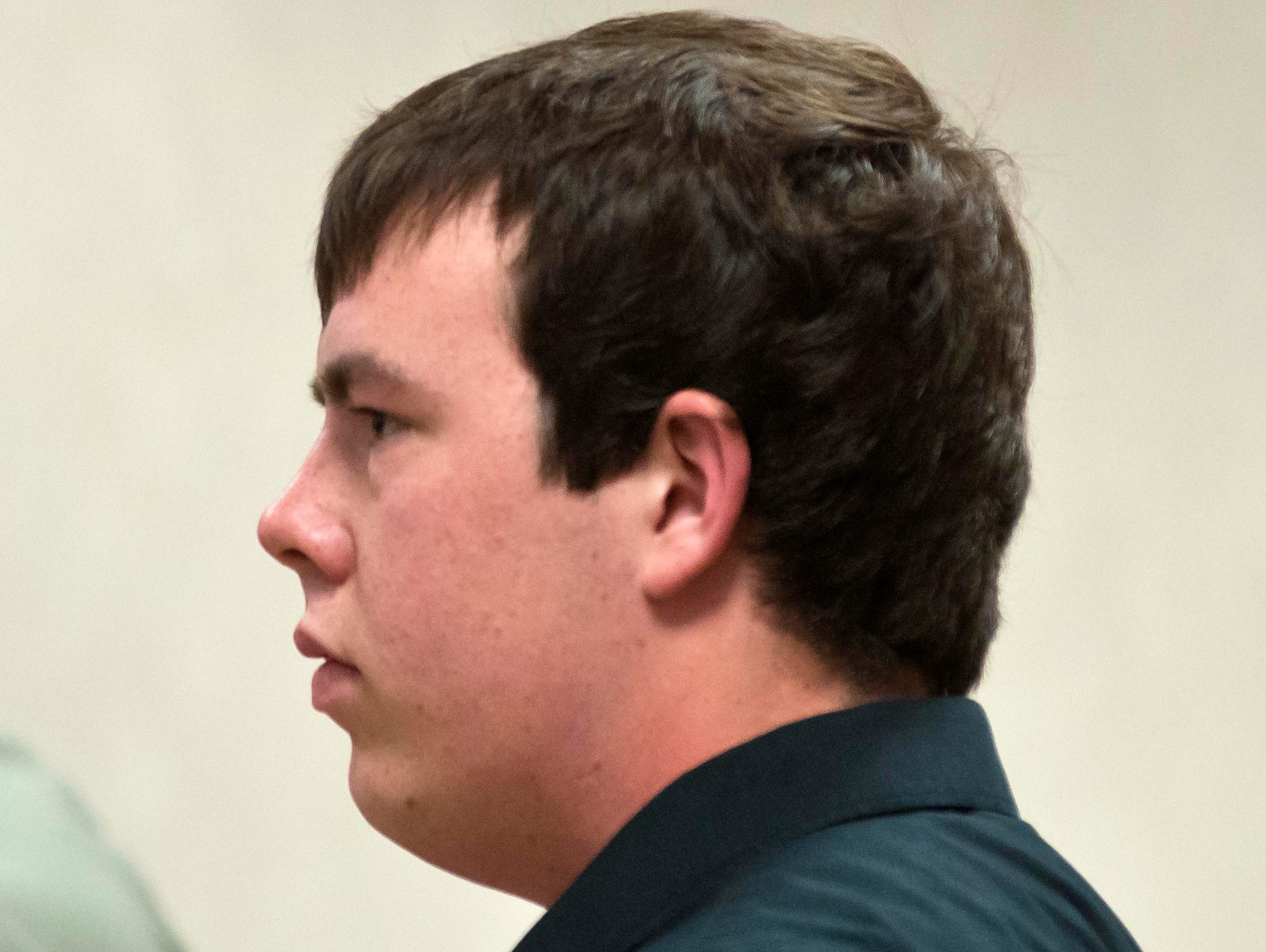 Brian Lasell, 19, of Milton, Vt., pleads not guilty Aug. 19, 2014, in Vermont Superior Court in Burlington, Vt., to a simple assault charge.