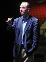 Keynote speaker Tommy Newberry makes a point during