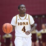 Schadrac Casimir pictured during Iona 92-77 win over Delaware in its home opener at the Hynes Center at Iona College in New Rochelle on Friday, Nov. 20, 2015. Casimir missed Friday's win over Marist because of a sore groin.