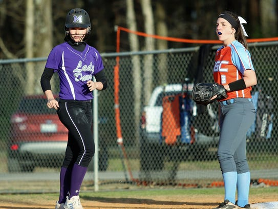 Milan's Kendall Westbrooks goes back to first base