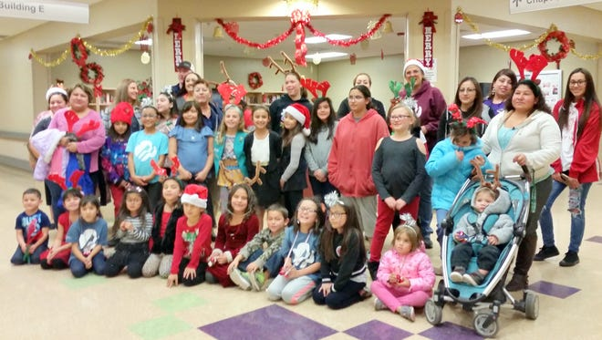 Girl Scouts of the Desert Southwest went caroling at the Fort Bayard Medical Center.