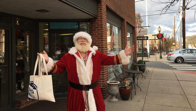Santa has been shopping small in Flemington and will continue on Saturday, Dec. 10 and 17. The downtown's holiday festivities also include a window decorating contest through Dec. 23 that has more than two down businesses participating.