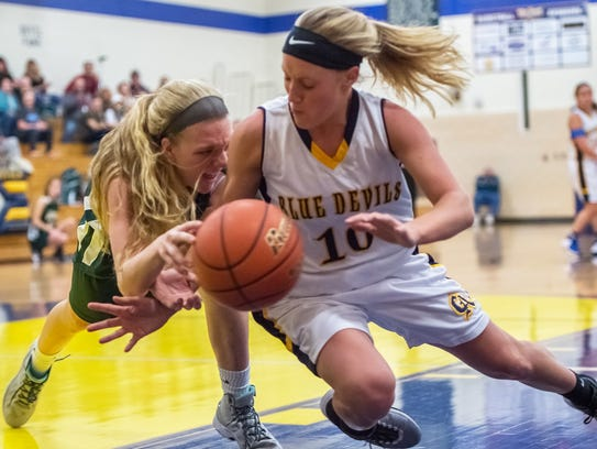 James Buchanan's Rachel Manikowski (30) and Greencastle's