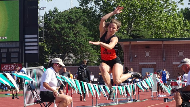 Ridgewood's Alexis Prater competes in the Division II long jump Saturday at Jesse Owens Memorial Stadium.