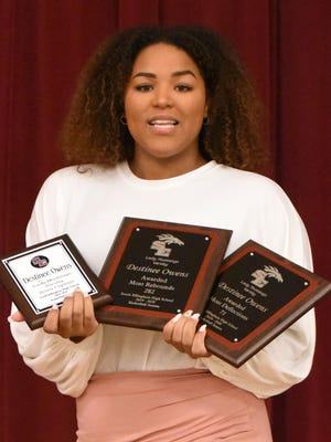 Destinee Owens won the Highest Deflection Award, 71, and Most Rebounds, 282.