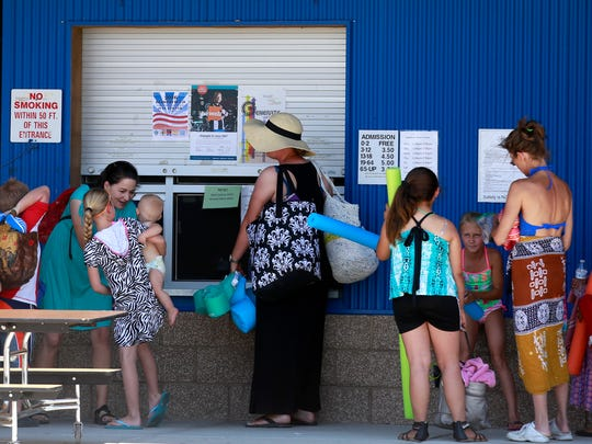 The hot weather drew a lot of people to the Bloomfield Family Aquatic Center on Tuesday June 21, 2016, in Bloomfield.