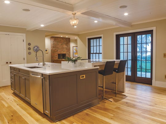 The homeowners wanted a big, deep stainless steel sink and a lot of space for cutting.