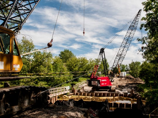 Work is underway on replacing the Hessen Road bridge over Swan Creek in Ira Township. The project is one of nine major bridge construction projects this year. St. Clair County has at least 228 bridges under its jurisdiction, as well as 5000 to 6000 culverts.