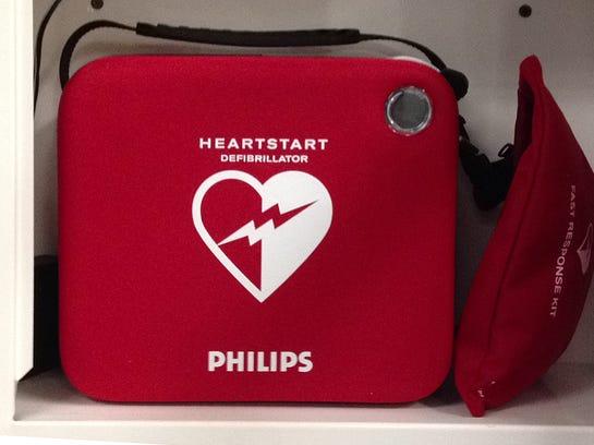 Phillips brand Heartstart Defibrillator. 2014
