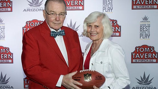 Nancy Bidwill and her husband of nearly 56 years, Cardinals owner Bill Bidwill.