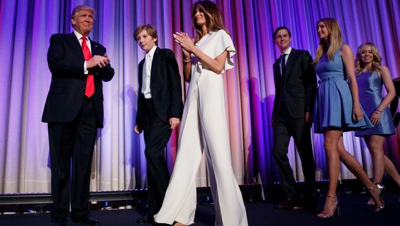 On election night, Melania Trump sported a white Ralph