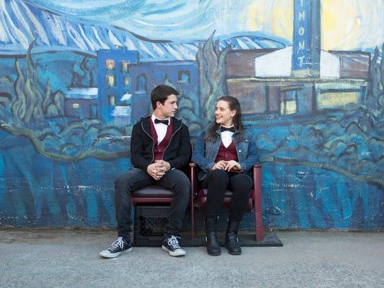 """Dylan Minnette and Katherine Langford in """"Thirteen"""