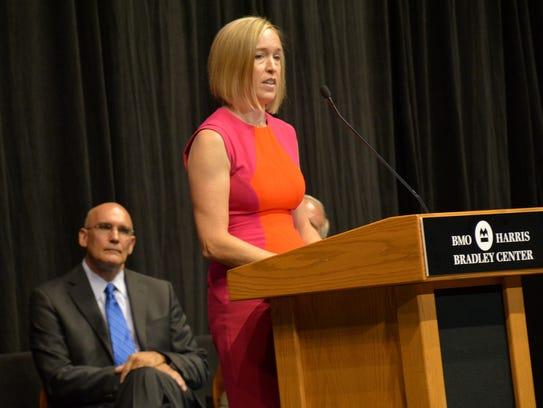 Jane Pettit's granddaughter, Sarah Zimmerman, speaks