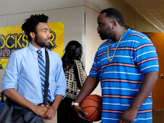 Donald Glover, left, plays Earnest 'Earn' Marks and Brian Tyree Henry plays Alfred Miles in FX's 'Atlanta,' set in a black neighborhood that wouldn't typically be the focus of a TV show.