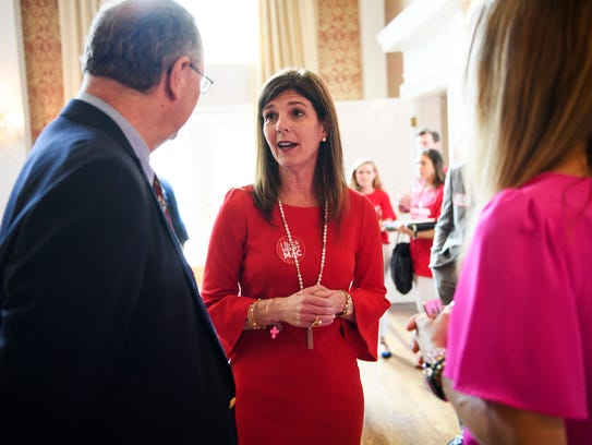 Pamela Evette during a Greenville County Republican