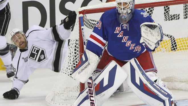 The Kings defeated the Rangers 3-0 in game 3 of the Stanley Cup finals at Madison Square Garden  June 9, 2014.