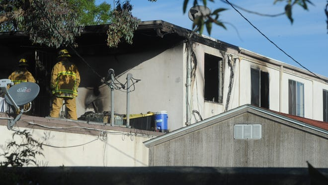 An apartment fire in Port Hueneme killed two people Friday morning.