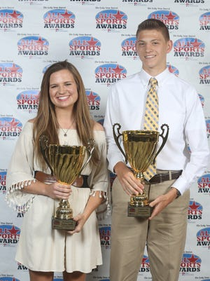 Sydney Smith (left) and Cole Yoders (right) were the DNJ All-Sports Awards President's Cup winners at the 2017 event.