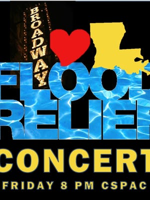 Broadway stars will perform a musical theatre concert on Friday to benefit flood victims in Central Louisiana.