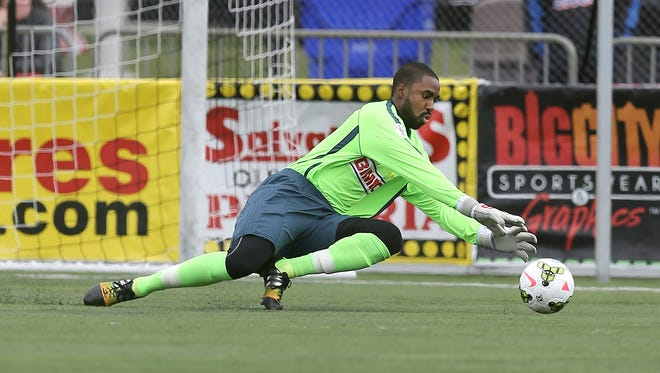 Fourth-year Rhinos goalkeeper Brandon Miller has posted 11 of Rochester's USL-best 15 shutouts.