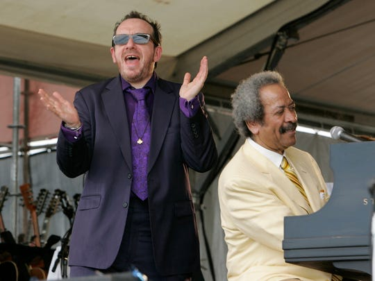 Elvis Costello and Allen Toussaint perform at the New