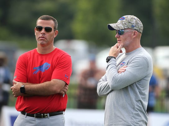 Bills GM Brandon Beane and head coach Sean McDermott