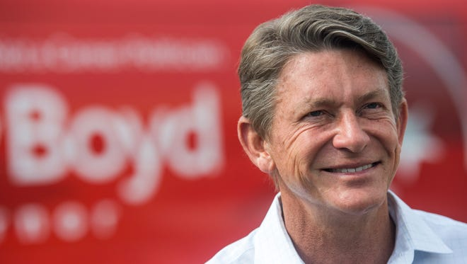 Republican gubernatorial candidate and Knoxville businessman Randy Boyd before early voting at the Downtown West voting location in Knoxville on Friday, July 20, 2018.