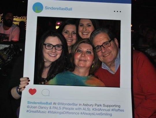 Clockwise, Aimee Weiner, Pam Maliavsky, Meri Weiner, Louis Weiner and Sindy Weiner at a previous Sinderella's Ball.