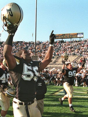 Rosevelt Colvin was one of nine members elected into Purdue's Hall of Fame