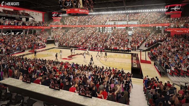 An artist's rendering of a renovated Fifth Third Arena.