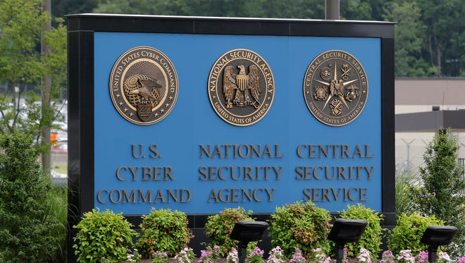 FILE - In thus June 6, 2013 file photo, a sign stands outside the National Security Agency (NSA) campus in Fort Meade, Md. After the House's lopsided bipartisan vote to end the National Security Agency's bulk collection of Americans' phone records, the Senate is under considerable pressure to pass a similar measure. (AP Photo/Patrick Semansky, File)