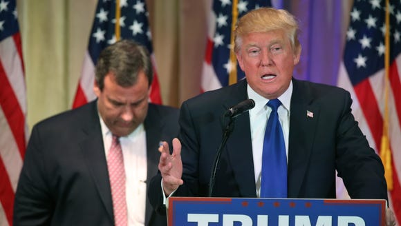 Chris Christie backs Donald Trump during a Super Tuesday