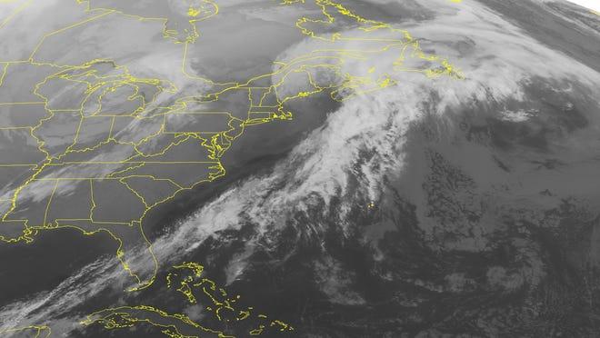 A NOAA satellite image taken Wednesday, Jan. 15, 2014 at 1:45 a.m. ET.