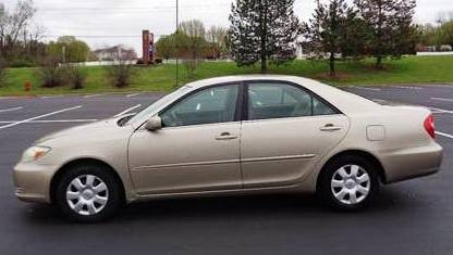 Hamilton County Sheriff's Office is looking for a beige, 2002 Toyota, Camry, like the one pictured, with Ohio license plates GYN-9000. It belongs to a man who police say was killed in Anderson Township. Anyone seeing the car is asked to call 911.