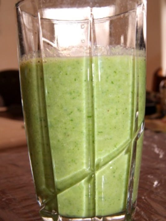 Just in time for St. Patrick's Day, you can make your own green smoothie by blending kale, apples and bananas. (Jaclyn Waggoner/Special to The Daily Times)