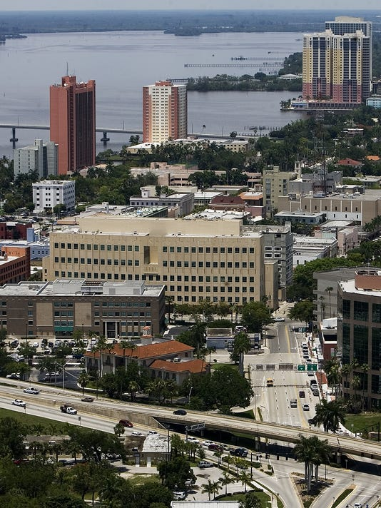 Downtown Fort Myers Aerial