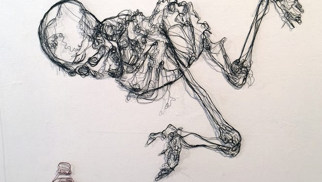 Work by Bethany Taylor, using string as a medium.