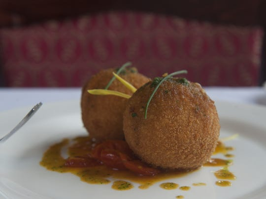 A Lobster Arancini is presented at Chubby's Steakhouse in Gloucester City.
