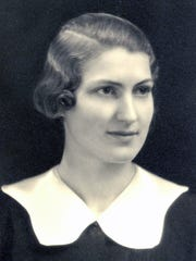 Charlotte Eckert Hautala as a high school girl in Danby.