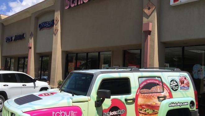 The Schlotzsky's lunch mobile awaits a catering order after a holiday weekend that set records for Schlotzsky's and other Ruidoso eateries.