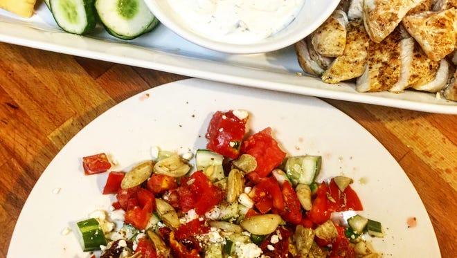 Go healthy with this Mediterranean spread.