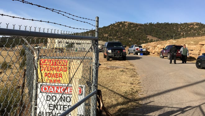 Emergency workers closed access to the village wastewater treatment plant following a toxic chemical spill from a delivery tanker.