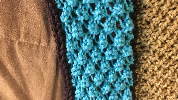 The icord edge is knitted over a single row of the