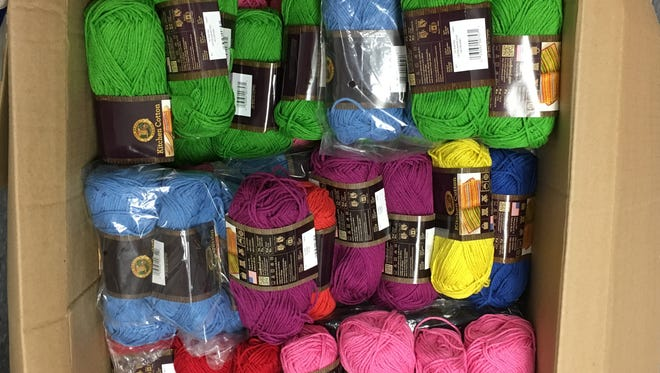 Look at the great colors that Shira Bloomenthal of Lion Brand Yarns picked out for us for the Stitch & Pitch game.