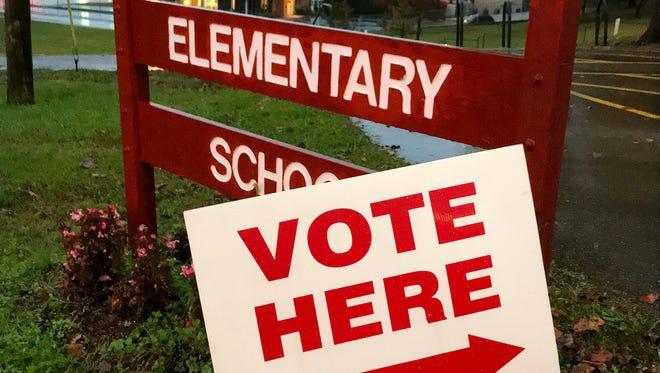 Voting ready to begin at Bearden Elementary School Tuesday, Nov. 7, 2017.