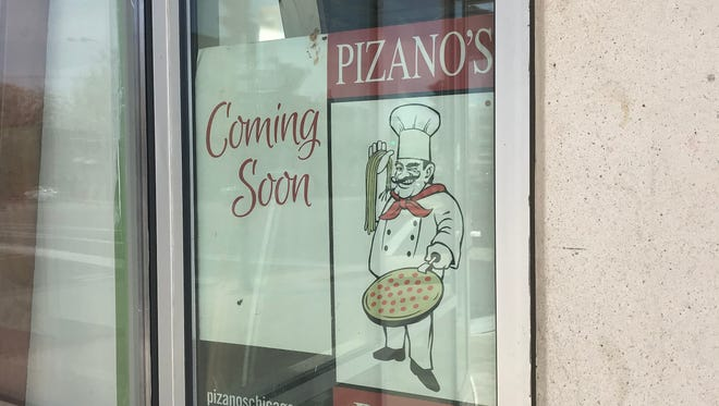 """The """"coming soon"""" sign at the Pizano's Pizza & Pasta under construction at 1154 N. Water St. was new this spring."""
