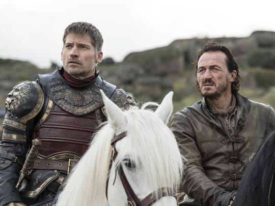 Bronn (Jerome Flynn), right, a mercenary warrior working