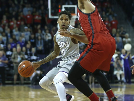 GCU guard DeWayne Russell tried to keep the Antelopes