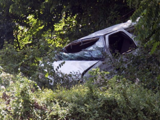 Two people were killed when this van crashed along Route 30 in Hellam Township on July 22, 2014.